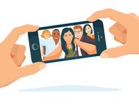 Selfie Phone View