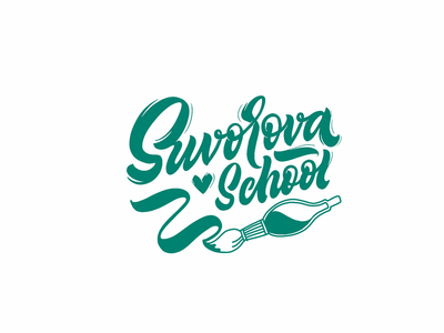 Logo for lettering school logo lettering type
