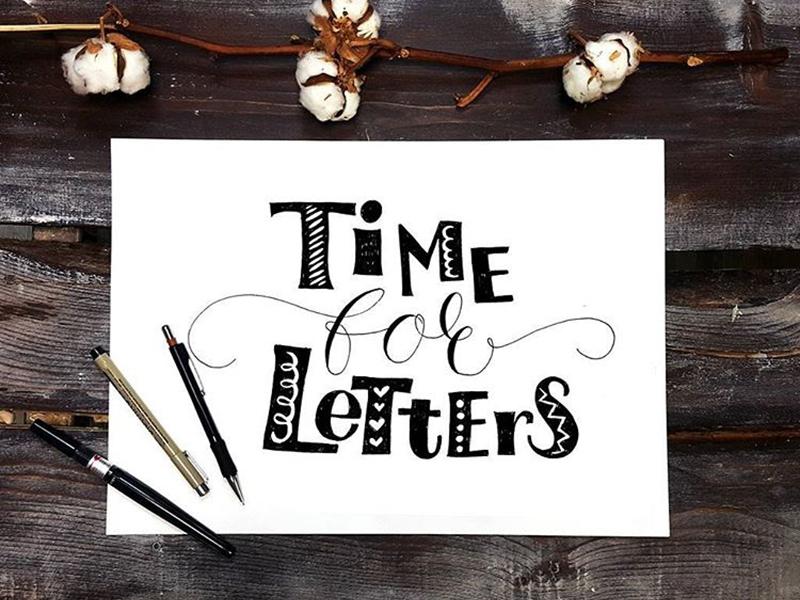 Time For Letter typography letter illustration lettering calligraphy