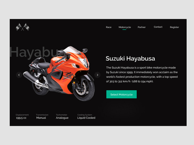 Motorcycle Website UI