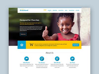 Freebie: Graceland PSD Template church charity wordpress themeforest graceland