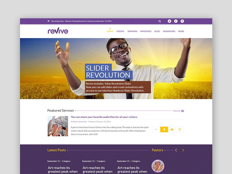 Free WordPress Theme: Revive WP
