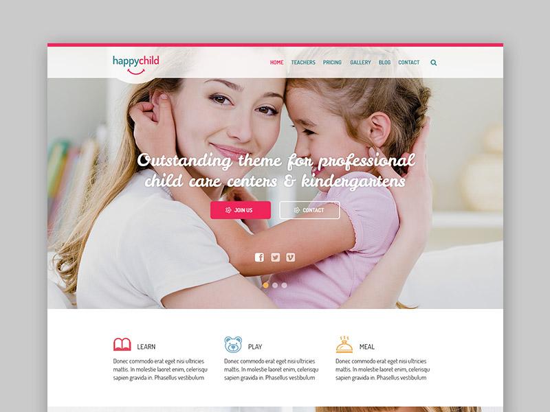 Freebie: Happychild WordPress Theme for Kindergarten
