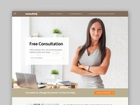 Consulting WordPress theme Rome Layout