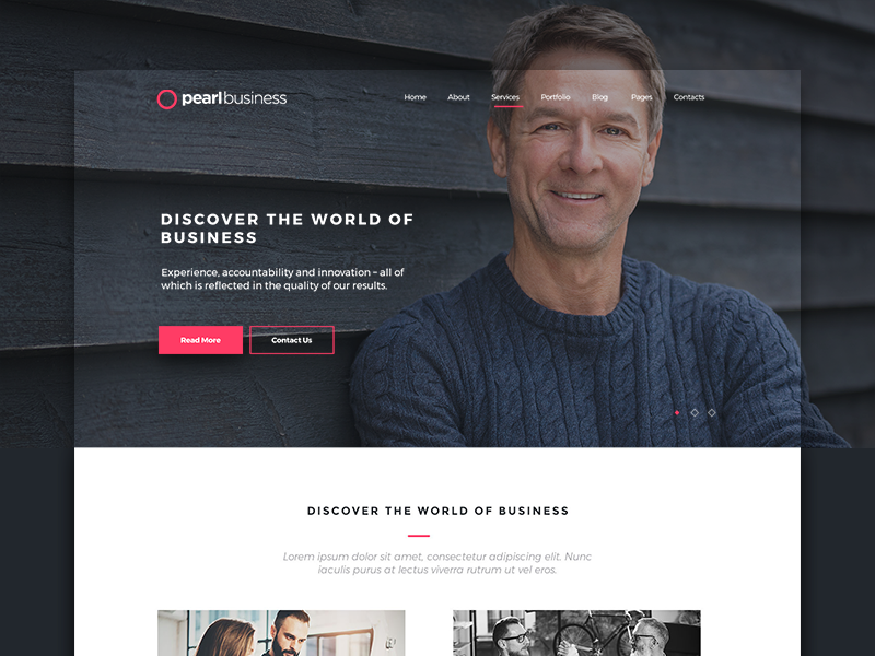 Pearl Business Wordpress Theme For Business And Consulting By
