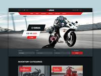 Motors WP theme - Motorcycles layout