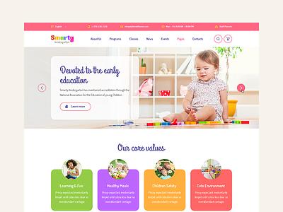 Smarty Kindergarten - Education WordPress theme kindergarten baby education learning premiumthete themeforest wordpress smarty