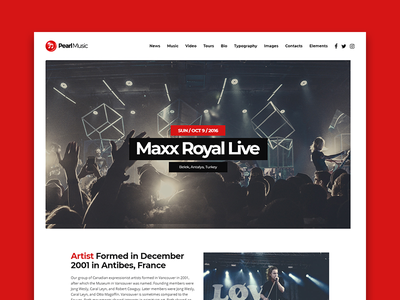 Pearl Music - For singers, DJs and bands themeforest wp wordpress theme template djs music pearl