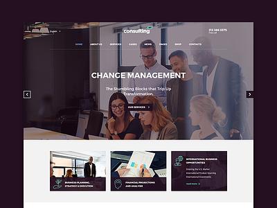 Consulting WordPress theme Moscow Layout wptheme premiumtheme themeforest wordpress business consulting