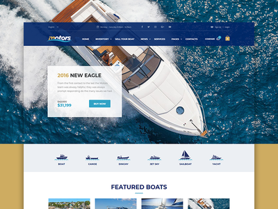 Motors WP theme - Boats Layout listings dealership themeforest wordpress theme boats motors
