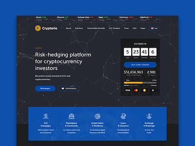 ICO Landing Page  Crypterio Cryptocurrency WordPress Theme themeforest wordpress consulting blockchain bitcoin cryptocurrency ico