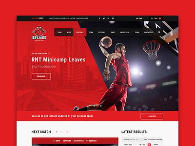 Splash Basketball WordPress theme sportspress baseball sports soccer theme wordpress basketball splash