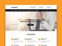 Consulting WordPress theme Shanghai Layout