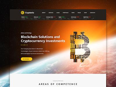 Crypterio - Bitcoin Wordpress theme themeforest wordpress consulting blockchain bitcoin cryptocurrency ico