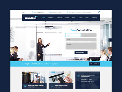 Consulting – Madrid Layout | Business WordPress Theme themeforest theme business wordpress consulting