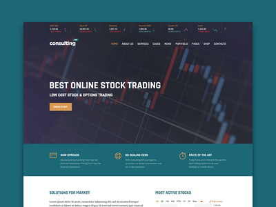 Davos Layout for Consulting WP Theme stock market trading consulting business themeforest wordpress theme