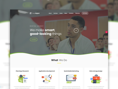 Digital Agency Layout for Pearl WP Theme wordpress theme creative agency web studio digital agency