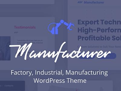 Manufacturer wp ui textiles manufacturing industrial design industrialdesign factory business illustration theme website themeforest wordpress