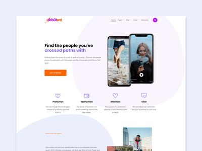 Debutant - Modern multipurpose WordPress Theme app template theme themeforest wordpress