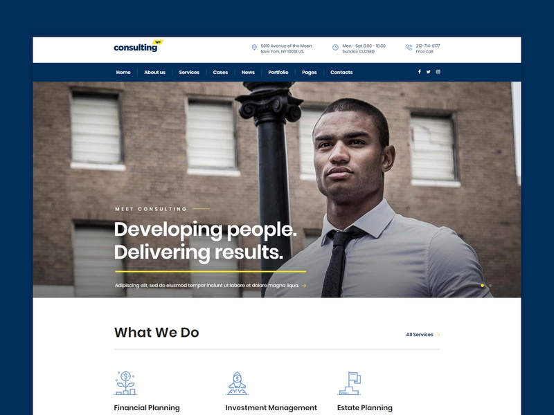 Berlin - a new Consulting WP theme demo design template consulting business website themeforest wordpress