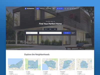 HomePress - Real Estate WordPress Theme idx real estate agency real estate realestate business website theme themeforest wordpress