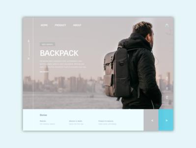BACKPACK website typography web ux ui design