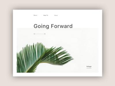 Going Forward web website typography minimal branding ux ui design