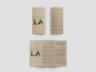 Sustain LA design recycled paper sustainability print brochure mockup brochure design