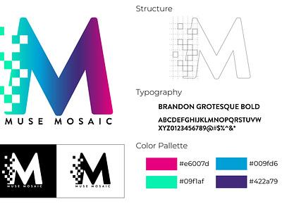 Muse Mosaic Logo branding logo graphic design design