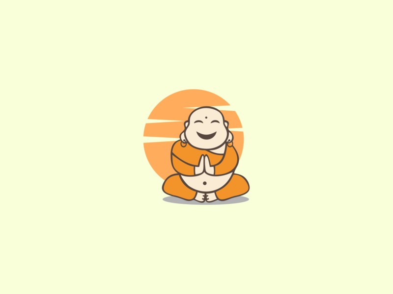 cute budha vector lineart brand identity artworks animal art logodesigner