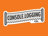Console.Logging Co. Sticker! - Sticker Mule Playoff