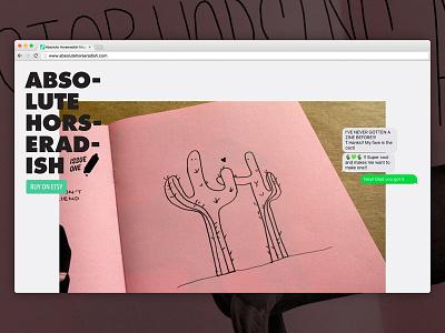 Absolute Horseradish Website hot dogs illustration web design website zine