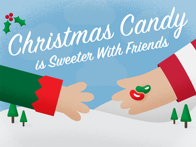 Christmas Candy! web design graphic design sharebear texture illustration ecommerce sharing candy holidays christmas