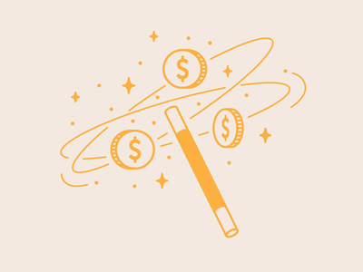 Budget Strapped Tools ecommerce magic editorial illustration