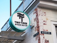 Two Tides Brewing Co. Sign