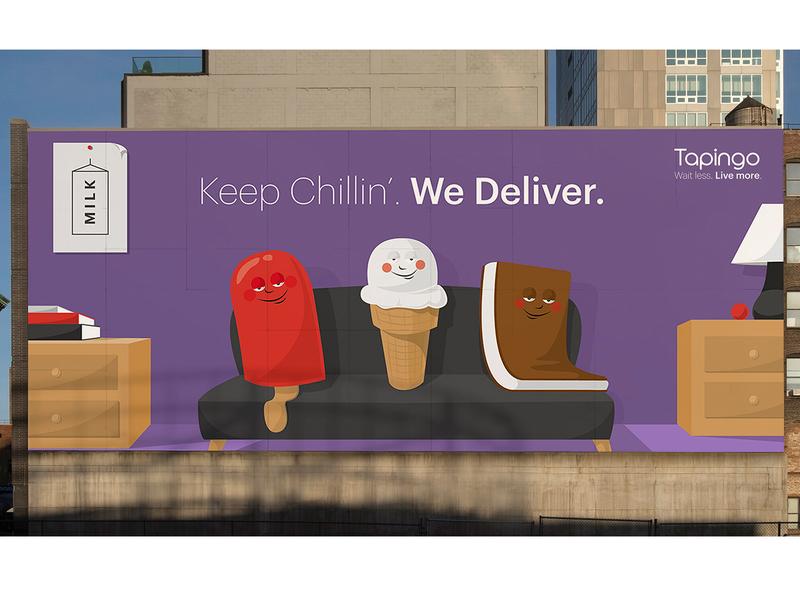 NYC Tapingo Billboard Illustration billboard design brand design illustration branding creative direction