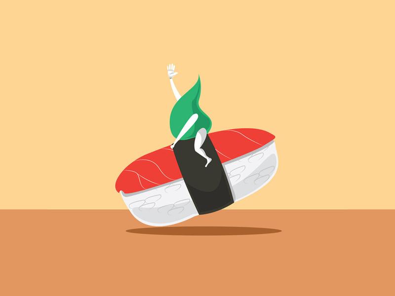 Sushi Rodeo design brand design illustration branding creative direction