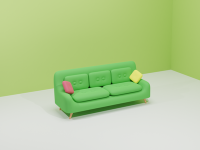Sofa 3D branding design 3d art 3d illustration