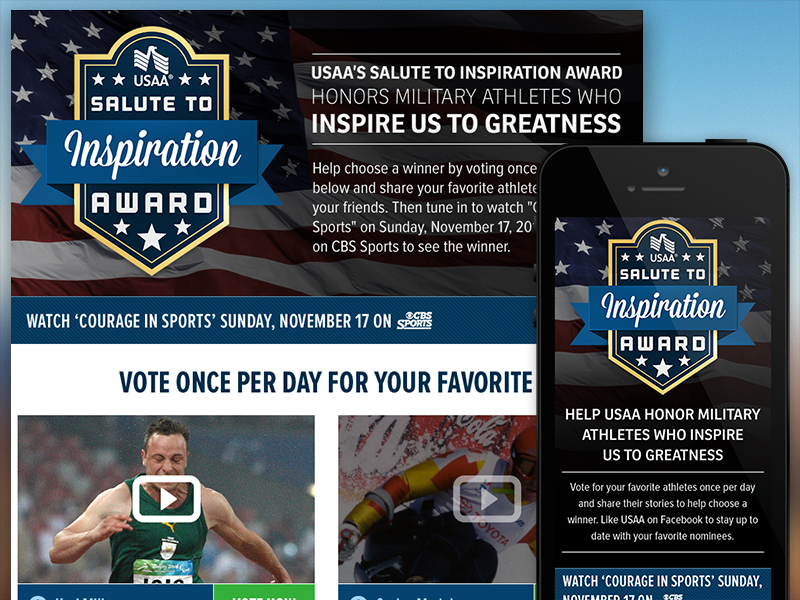 USAA Salute To Inspiration Award - Facebook Application by