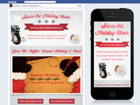 Mr Coffee Holiday E-Card Facebook Application