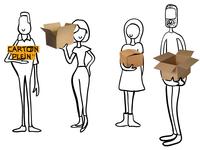 Personnages infographie OHU pour Carton Plein