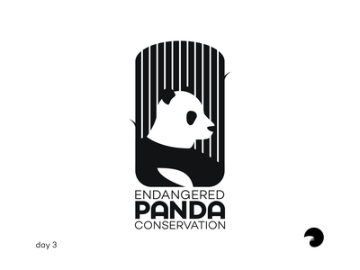 Endangered Panda Conservation | Daily Logo Challenge #3