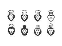 Lion chef logo concepts