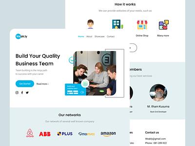 Landing Page - Weakly landing page website website design team clean design ui design ux design teamwork business homepage trendy design typhography smooth