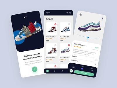 Mobile App - Shoes jordan shoes design shopping app ecommerce app sneakers nike shoes shoes app shoes store nike shoes ios mobile app app application app design minimal color filter ux design ui design