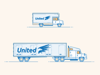 Moving Trucks Illustration