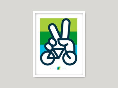 Artcrank artcrank portland bike bicycle peace hand