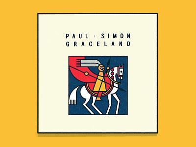 "Paul Simon's ""Graceland"" illustration album cover paul simon graceland"
