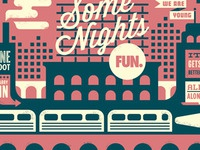 "FUN. ""Some Nights"" deluxe edition poster"