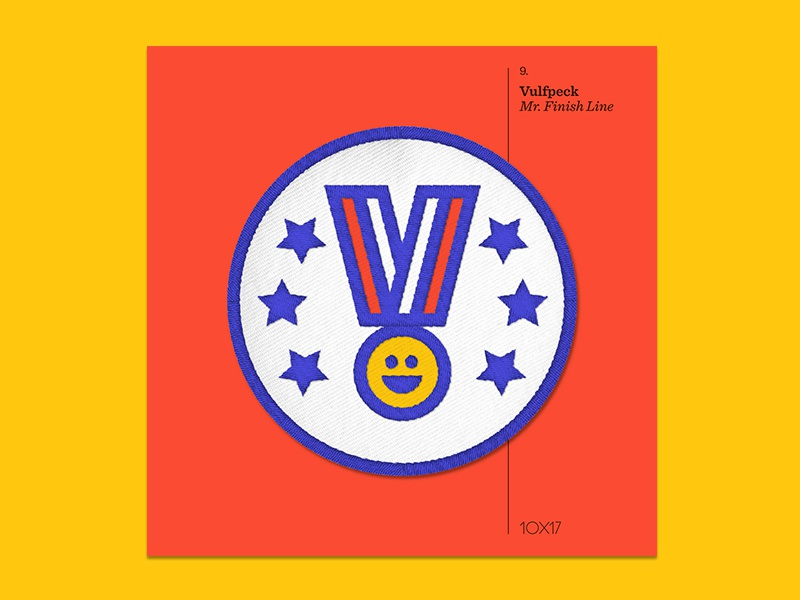 10x17 — #9: Mr. Finish Line by Vulfpeck vulfpeck embroidered patch album art 10x17